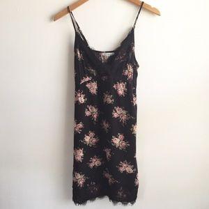 American Eagle Black Floral Slip Dress Size XS